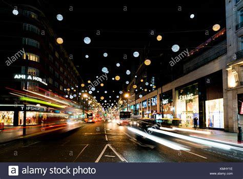 Christmas Oxford Street London Night Stock Photos Lights In Oxford