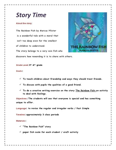 story themed activities rainbow fish writing activities homeschool ideas