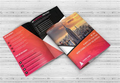 bi fold flyer template 11 bi fold brochures psd png vector indd eps format