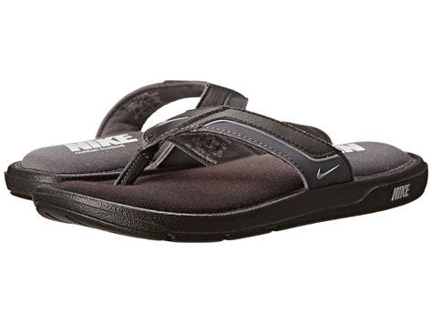 Perfect Mens Nike Comfort Thong Black Metallic Silver Dark
