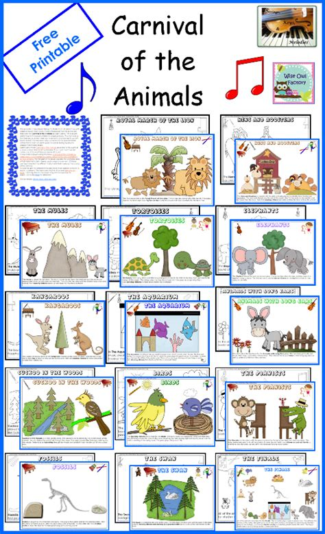 free carnival of animals coloring pages