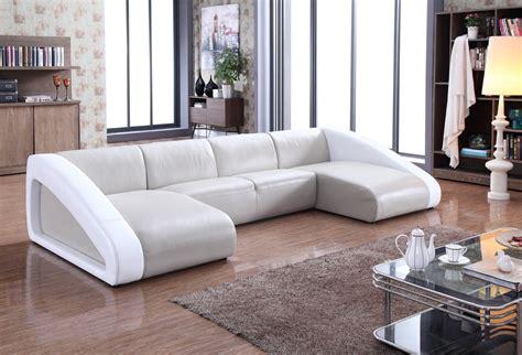 leather sofa designs 2017 divani casa pratt modern grey white leather sectional sofa