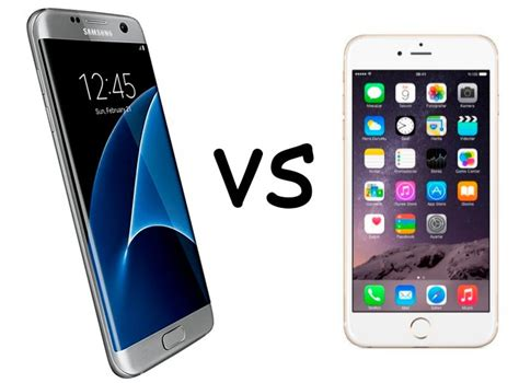 Samsung S7 Vs Iphone 6s Samsung Galaxy S7 Vs Iphone 6s Comparativa