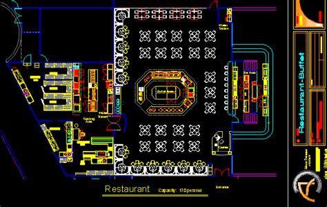 Bar Floor Plan Design by Buffet Restaurant With Floor Plans 2d Dwg Design Plan For