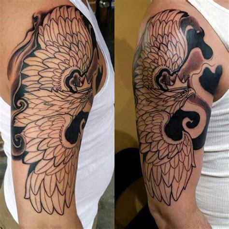 eagle tattoo half sleeve 60 polish eagle tattoo designs for men coat of arms ink