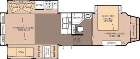 cedar creek 5th wheel floor plans 2014 forest river cedar creek silverback 29re fifth wheel