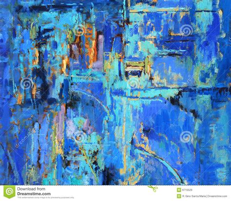 free painting abstract painting in blues royalty free stock images