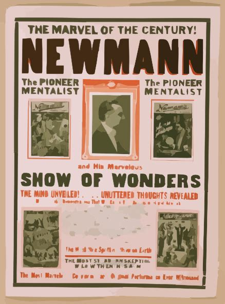 Exhibition In Marvel At The Ancient Twentieth Century Consoles by The Marvel Of The Century Newmann And His Marvelous Show