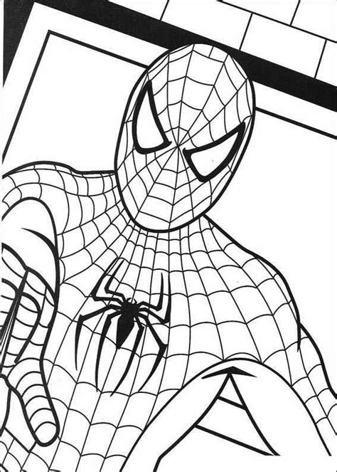 spiderman  coloring page spider man party spiderman