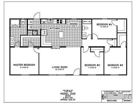 4 bedroom mobile homes 4 bedroom mobile home floor plans house plans