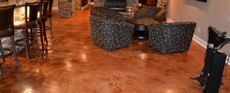 Consider Stained Concrete Floors During Your Basement