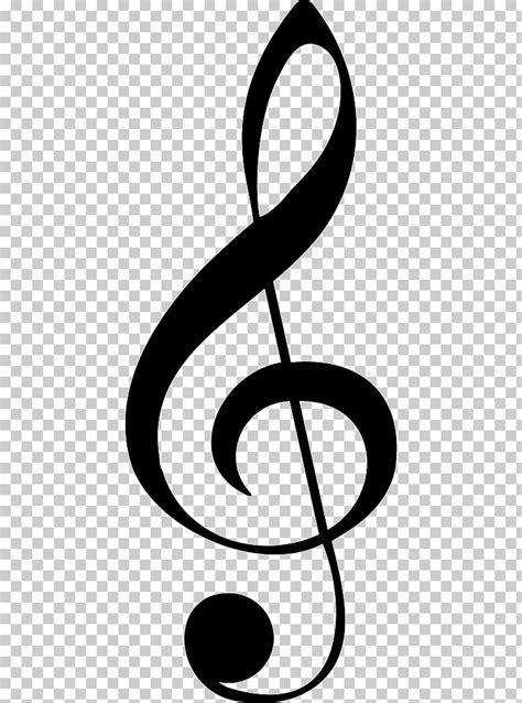 Ilustración de g-clef negra, clef nota musical, agudos