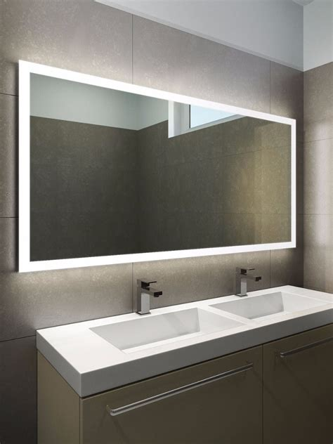 bathroom mirrors halo wide led light bathroom mirror 1419h illuminated