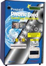 prepaid phone vending machine 2 columns with bill acceptor