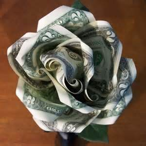 money flowers there are several different methods for creating origami roses this one uses two bills and a