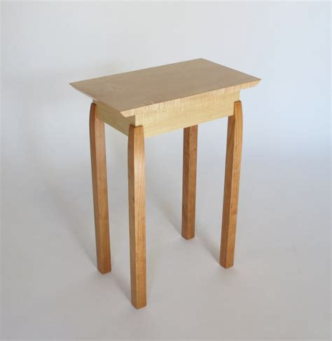 narrow accent tables small narrow end table with unique hand cut joinery