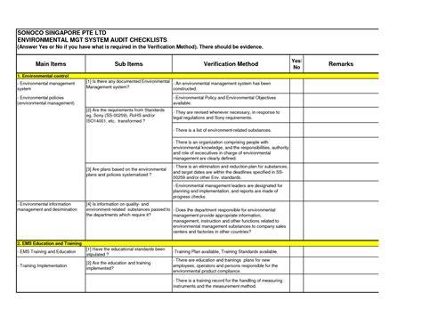 audit checklist template  greatjob internal audit
