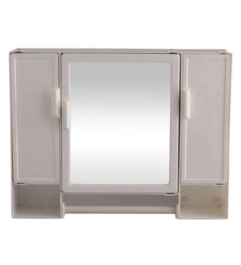 buy zahab white plastic cabinet with mirror