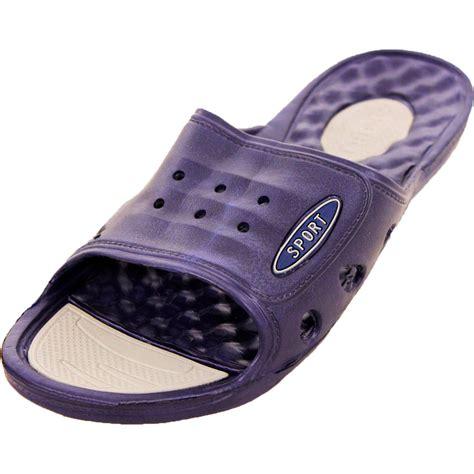 Shower Shoes For by Mens Vented Cushion Sandals Slip On Flip Flop Sport Slide