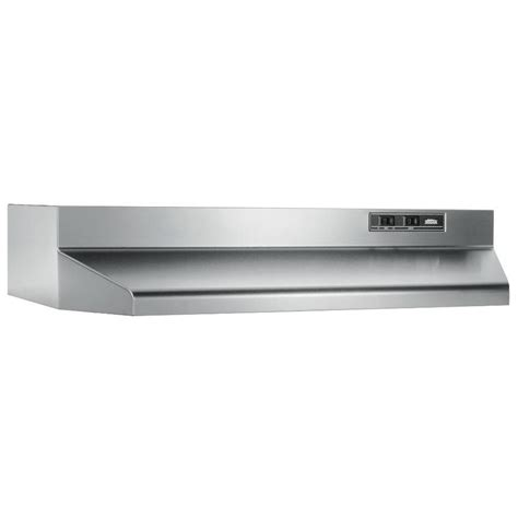 black stainless under cabinet range hood shop broan undercabinet range hood stainless steel black