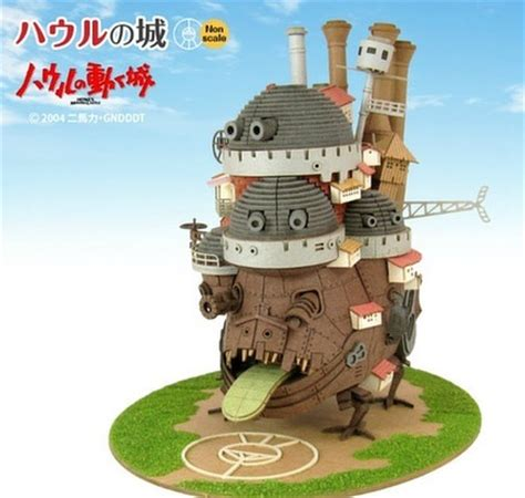 Howls Moving Castle Papercraft - 1 48 howl s moving castle papercraft kit at mighty ape