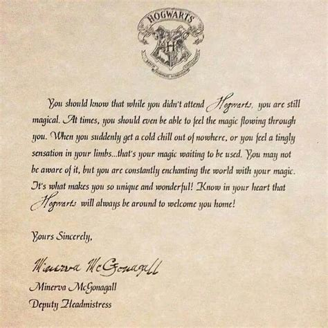 Hogwarts Acceptance Letter Nz A Thank You To My Number One School For Rejecting Me