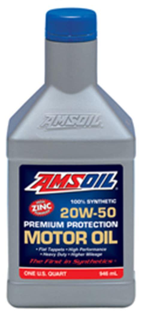 Oli Amsoil amsoil premium protection 20w 50 synthetic motor