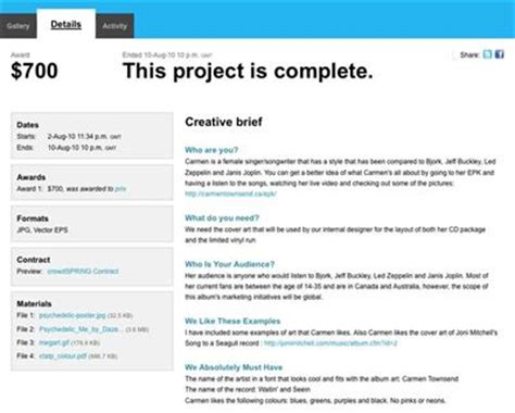 design brief software sle creative brief on crowdspring connect