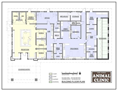 28 veterinary floor plans veterinary floor plan