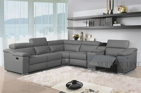 gray sectional sofa with recliner grey leather modern sectional sofa with two recliners and