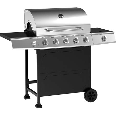 backyard grill 5 burner gas grill stainless steel walmart com 5 burner gas grill stainless steel black outodoor cooking bbq ebay