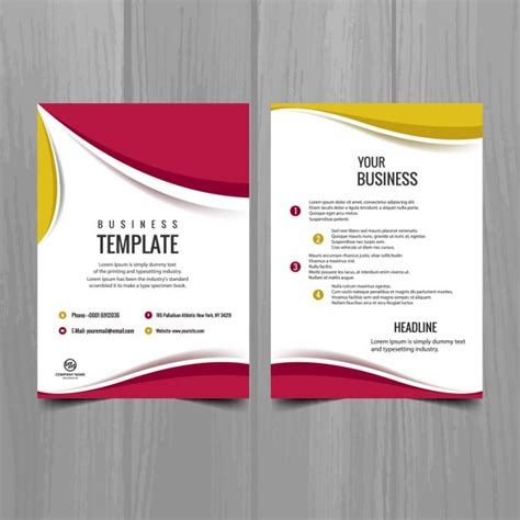 pink and yellow brochure design vector free download