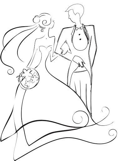 And Groom Outline Drawing by And Groom Clipart 3 And Groom Silhouette Image 3 Clipartix