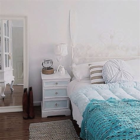 coastal vintage bedroom white furniture oar coir