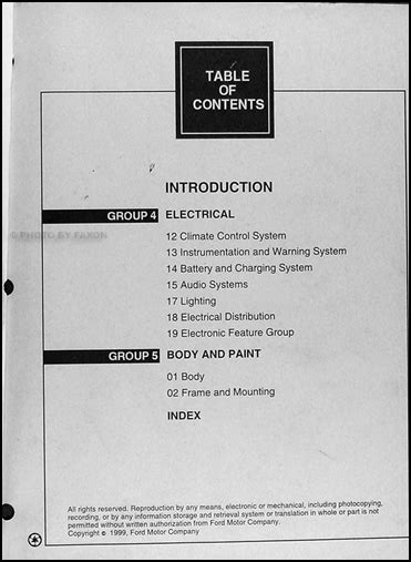 car maintenance manuals 2000 ford crown victoria engine control 2000 ford crown victoria mercury grand marquis repair shop manual 2 vol set