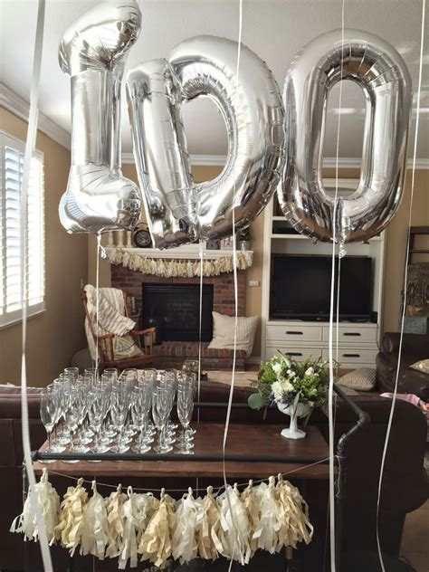 gold silver  white engagement party party decor