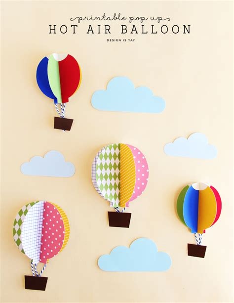 balloon pop up card template pop up air balloons design is yay