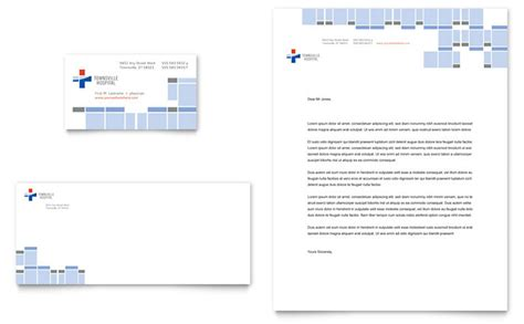 Hospital Business Card & Letterhead Template Design