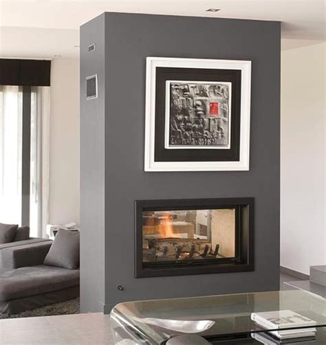 sided wood fireplace sculpt fireplace collection a new dimension in fireplace