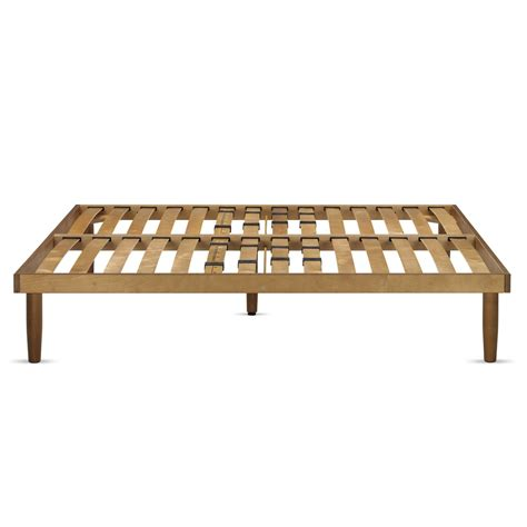 Wood Frame Double Slatted Bed Base Arredaclick Bed Frame With Slatted Bed Base