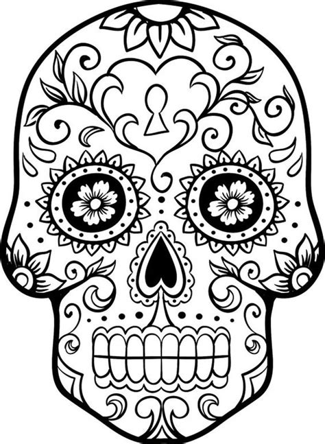 sugar skull coloring page coloring home