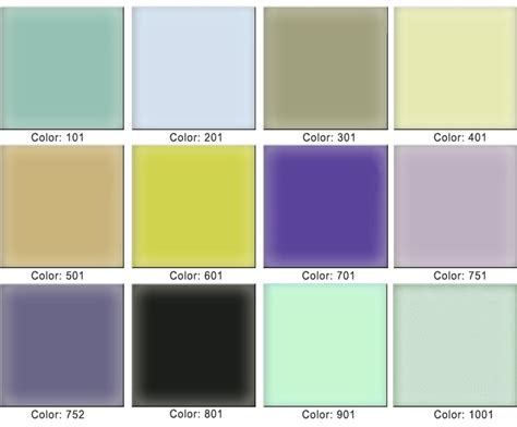 glass color options custom