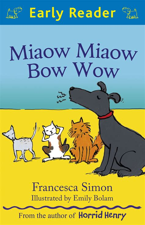 the joke bow to books miaow miaow bow wow simon