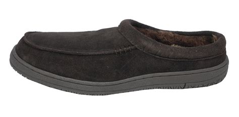 mens leather fur lined slippers mens mokkers real suede leather fur lined clogs mules