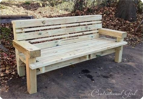 homemade outdoor wooden benches best of 2011 diy projects centsational style