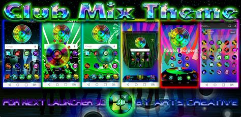 themes for android version 2 3 6 next launcher 3d theme clubmix version 2 0 2d 3d mode