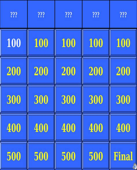 Free Jeopardy Template With Sound by Jeopardy Powerpoint Template With Sound For Free