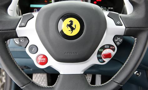 ferrari steering wheel car and driver