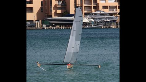 hydrofoil rc boat rc hydrofoil sailing part4 youtube