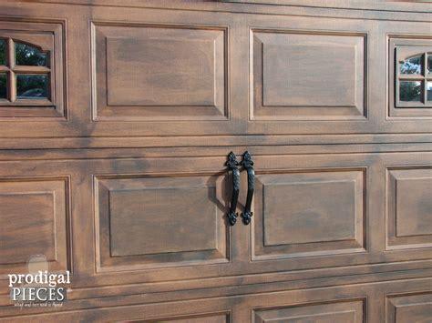 faux painting garage doors look like wood remodelaholic faux wood carriage garage door tutorial